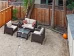 Outdoor lighted-patio. Perfect for entertaining and/or just relaxing.