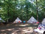 Camp includes exclusive use of all four tents