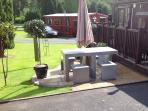 Stone furniture and BBQ