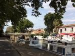 Canal Midi - 50 metres away