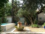 Idyllic, private courtyard patio
