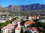 The view of Table Mountain from the apartment.