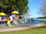 Childrens playgrounds and recreation facilities along the Swan River parklands