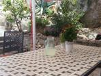 1st terrace has a traditional Dalmatian stone garden. Island Brac is famous for its stone