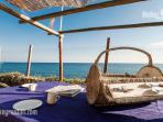 Patio on the private beach