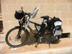 28' front and seat suspended electric MTB with babyseat