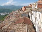 As I said, rooftops in the historic medieval village cascade down the mountainside.