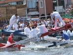 Les joutes nautiques sur le canal sont incontournables à Sète!