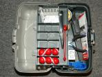 We provide 4 sets of Shakespeare fishing poles and a fully stocked tackle box (with bait).
