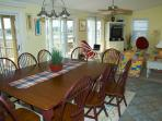 Dining table easily seats 10