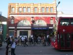 Camden Tube station is roughly a 10 minute walk
