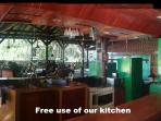 Free use of our kitchen. Save on expensive local restaurants