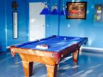 Games room - Full size professional pool table, table tennis/ping pong, foosball, darts....