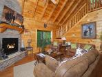 Living Room - Fireplace - Queen Sleeper Sofa