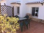 Quiet area at back of villa