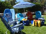 Beach chairs, towels, and more!