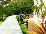 your own terrace overlooking the gardens