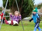 On the swing at Brewsterfield Lodge