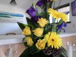 Flowers can be arranged for special occassions (surprise too!) at your request - for additional cost