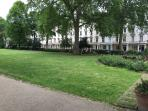 St Georges Square gardens, a place to relax on hot summer days