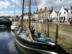 Anstruther High Street from harbour