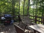 REAR DECK OVERLOOKING THE LAKE ...START THE GRILL!!!!!!!!!!!!!!!