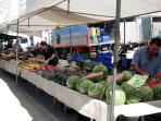 Fresh fruit and vegetables at the weekly outdoor market at Puerto de Mazarron