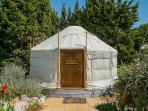 Yurt Balcón de Andaluz with private pool