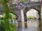 Alyth's 15th century pack bridge crossing over the Alyth Burn