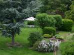 Garden with Summer Gazebo, Table and Chairs. Gas Barbeque Available.
