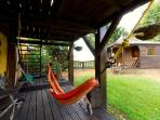 Under the main terrace, the hammock where you will relax while listening to the song of nature