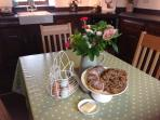 Traditional Welsh hamper awaits you on arrival