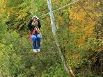 Zip Line in Hocking Hills