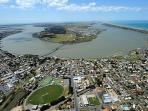 Goolwa is a name that means 'elbow in river', and we are to the right side.