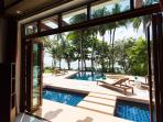 Beachside with swimming pool