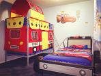 Lightening McQueen bed and bunk bed