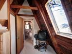 Upstairs Twin Bedroom with TV