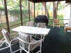 Extra large screened in patio and fenced back yard