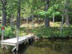 View of dock from Lake