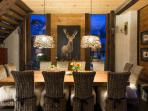 Twilight in the dining room