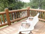 Second floor master bedroom's private deck. Relax and enjoy your own private space.