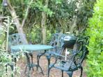 Enjoy morning coffee in the small garden...or an evening wine