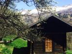 Alpine cabin in spring