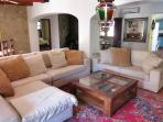 Living room with huge comfy sofa