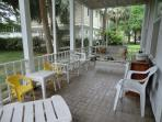 Downstairs Screened Porch-Quiet Place to Relax