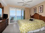 Master Bedroom w/ King Bed & Gulf Views