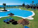 Pool at beach club