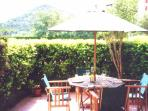 Terrace, like an extra room, secluded, great for sitting out, day and evening