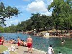 Barton Springs Pool. So cool on a hot summer day.