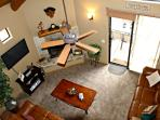 View from loft into family room - great open floor plan